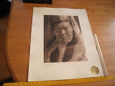 Edward S Curtis Photogravure 18x22.5 Tweedweave Haida of Massett Plate 398