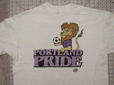 Vtg 1993 PORTLAND PRIDE Soccer T-SHIRT Men XL Continental Indoor League CISL 90s