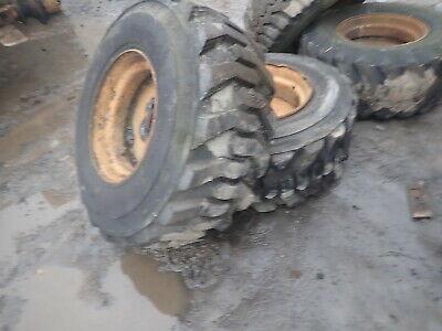 Case W11b Wheel Loader Wheels Tires 15-19.5 Nice Tread Rims Tractor W11