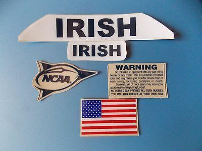 - Notre Dame Irish football helmet decals set