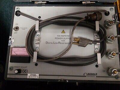Biddle Dlro 247120 Digital Low Resistance Ohmmeter Needs Calibration