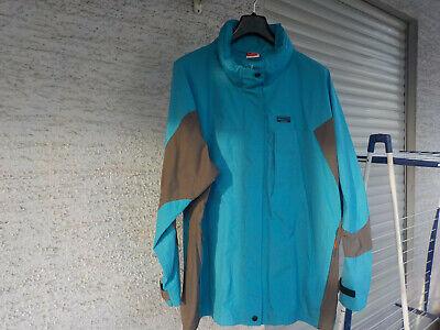 Damen-Trekking- Outdoor- Regenjacke türkis-grau Gr.XL- Wasser-Winddicht  *TOP*