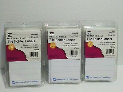 6x Charles Leonard - File Folder Labels White 248pack Full Case