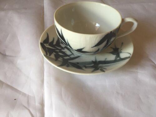 Vintage Yamaka China Japan Colorful Blues Tea Cup & Saucer