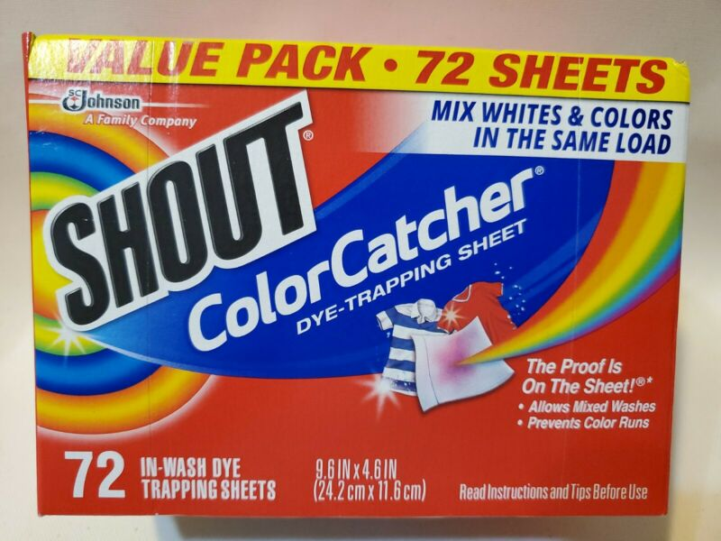 SHOUT Color Catcher Dye-Trapping Sheets 72  Count(9.6INX4.6IN)