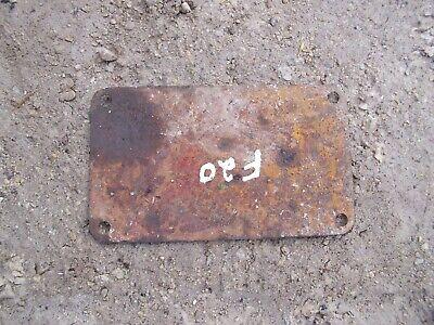 Mccormick Farmall F20 Ih Tractor Original Square Cover Panel Plate