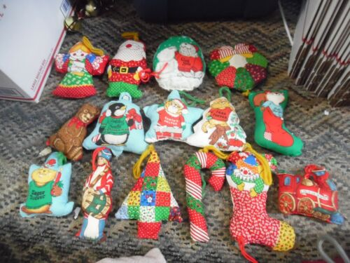 Vintage lot cloth Christmas tree ornaments -everything in photos
