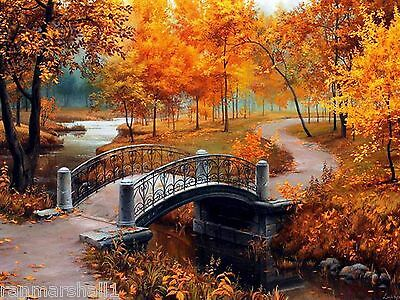 Set of 4 Autumn Fall Scenic Scenery Stationery Notecard Notecards / Envelopes - Fall Stationery