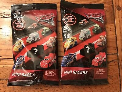 Disney Cars 3 Mini Racers FABULOUS LIGHTNING MCQUEEN Car Blind Bag #14 Lot of 2