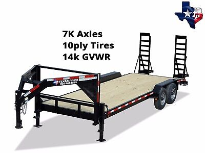 New Texas Pride Gooseneck 7x20 Lowboy Equipment Trailer 14k Gvwr