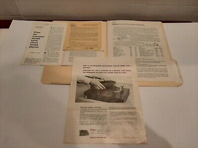 VTG Original Acoustic Research XA Turntable Instruction Manual & Other Stuff #1