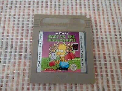 Jeu Game boy / GB Game Bart vs The Juggernauts genuine original Nintendo *