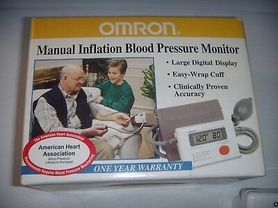 Omron Manual Inflation Blood Pressure Monitor Model HEM-412C Original Box