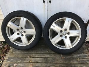 P225/55R 19 Toyo microbit studless winter tires/rims x 4