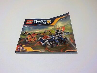 LEGO NEXO KNIGHTS Axl's Tower Carrier  70322 Instruction Manual only