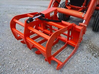 Kubota Tractor Skid Steer Attachment - 48 Root Rake Grapple Bucket - Free Ship