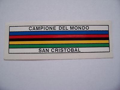 World Champion stripes decals X 2 plus free Campagnolo