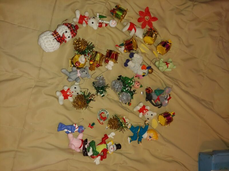 Lot Of  Vintage Christmas Ornaments Mixed