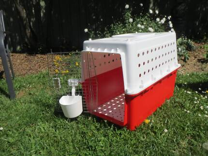 Dog travelling cage, used once, excellent condition.