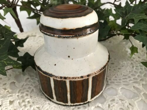 Vintage DENBY Made in England Stonehenge Midwinter Earth Sugar Bowl with Cover