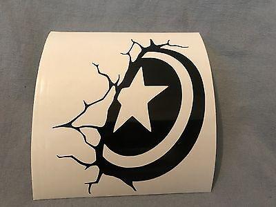 Captain America Shield Avengers Vinyl Decal Car Truck Window Yeti