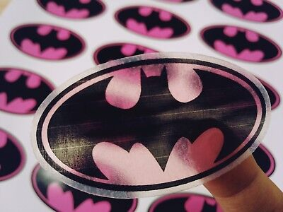 Batgirl Logo (Batgirl logo Wall Decal sticker Bumper Birthday candy bag invitation)