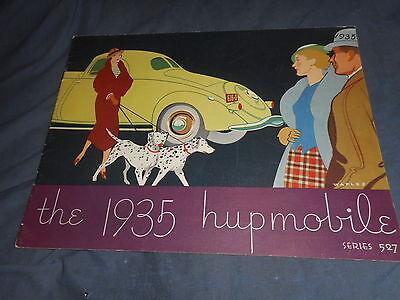 1935 Hupmobile Series 527 Full Line Color Original Brochure Catalog Prospekt