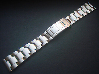 20MM FLIP-LOCK STEEL OYSTER BAND BRACELET WITH STRAIGHT ENDS FOR ROLEX MEN WATCH