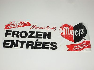 VINTAGE1980'S MYERS FROZEN DINNER ENTREES SUPERMARKET ADVERTISE WINDOW CLING