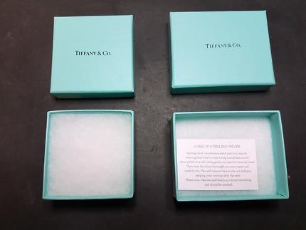 Tiffany and co boxes, empty Tiffany jewelery boxes x 2