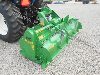 Tractor 3pt H-dty Pto Rotary Tiller 93 Valentini H2300 Qh Compat100hp Gbox