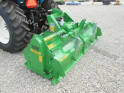 Rotary Tiller 93 Valentini H2300 Tractor 3-pt Pto Qh Compat Hd 100hp Gbox