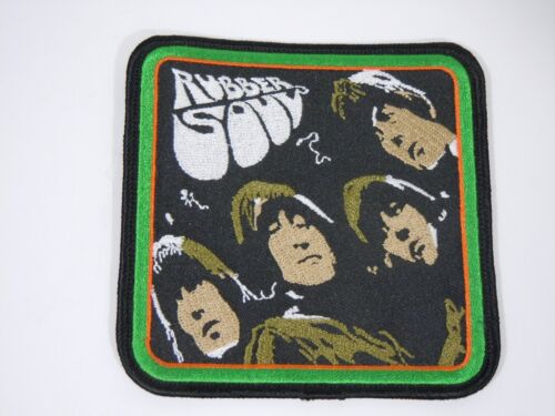 """The BEATLES-Rubber Soul Embroidered Iron-On Patch - 4"""" -  High Quality"""
