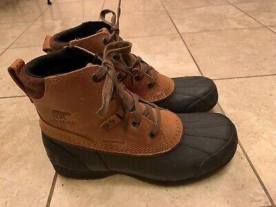 Sorel Ankeny Duck Mens Boots waterproof Size 9.5M Brown - NEW! Best (Best Waterproof Casual Boots)
