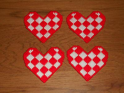 Подставки RED & WHITE HEART COASTERS