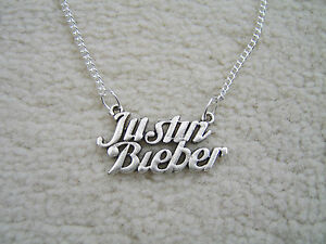 Lovely  Justin Bieber Charm Necklace. Must See. With Organza gift bag