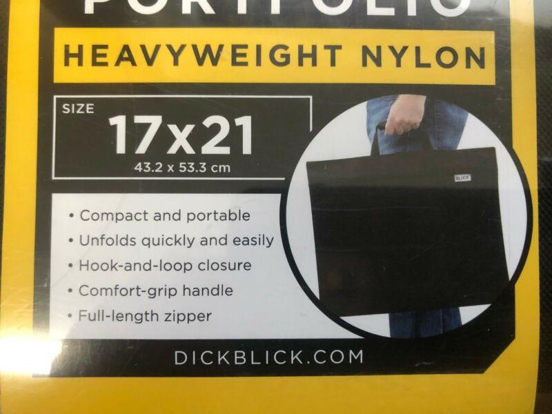 BLICK ESSENTIALS FOLDING PORTFOLIO HEAVYWEIGHT NYLON BAG 17 X 21