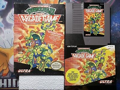 Teenage Mutant Ninja Turtles II Arcade Game NES NINTENDO CIB TMNT Complete