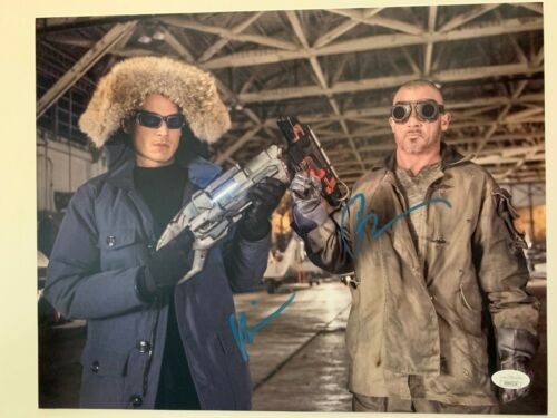 Flash Wentworth Miller Dominic Purcell Autographed Signed 11x14 Photo JSA COA