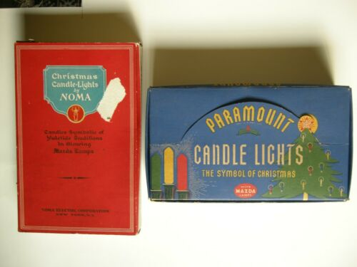 Vintage Paramount & Noma C6 Christmas Candle Sets - 10 Extra Bulbs - 1930
