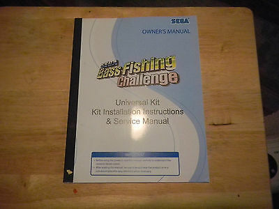 BASS FISHING CHALLENGE  ORIGINAL VINTAGE  ARCADE  video game manual