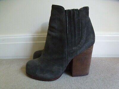 JEFFREY CAMPBELL Ladies Grey Suede Leather HAVANA LAST Boots Size US 7/UK 4.5