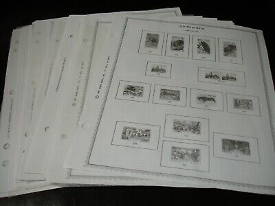 South Africa, 25 Double Sided Minkus Album Pages, 1987//2007. No stamps