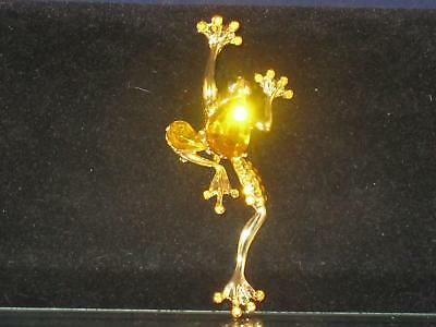 Frog Feet Costume (NEW GOLDTONE FROG PIN W/GOLD STONE ON BACK SMALL GOLD STONES ON WEBBED FEET)