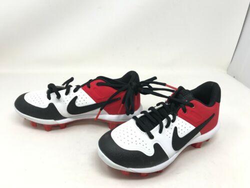 Boys Nike (AO7583-106) Alpha Huarache Varsity red/white/blk baseball cleats (10R