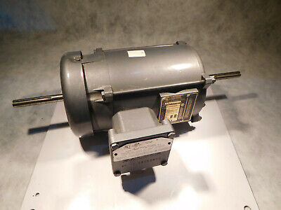 Baldor 35j195208 Electric Motor 13hp 1140 Rpm Double Shaft 3ph Xproof