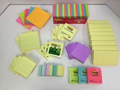 Post-it Notes Americas Favorite Sticky Note Super Sticky Pop-up Lined 66 Ct