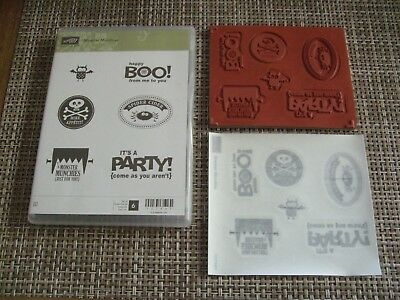 Stampin' Up!  MONSTER MUNCHIES Stamp Set NEW Halloween Spider Cider Party - Halloween Munchies