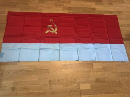 Authentic Big Flag Ukraine Ukrainian Soviet Socialist Republic USSR Vintage 1969