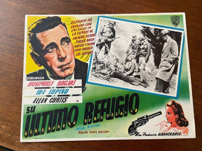 High Sierra Mexican Lobby Card 1941Humphrey Bogart, Ida Lupino, Allan Curtis